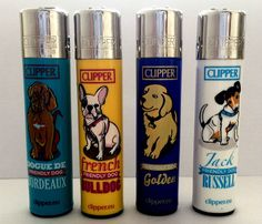4 x GENUINE CLIPPER GAS REFILLABLE LIGHTER -  FRIENDLY PET DESIGNS  LIGHTERS