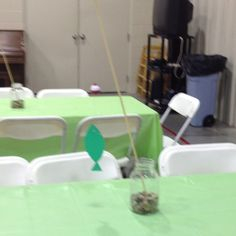 Center piece for fishing birthday party