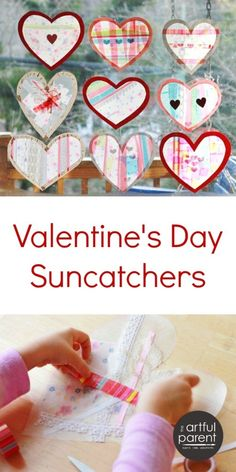 How to Make Heart Suncatchers with Lace and Ribbon - Beautiful!