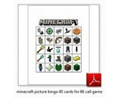 MineCraft Bingo Game for Parties