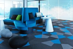 NVIDIA: Floor of the Year 2012 in Finland ! designed by Worplace Oy Outdoor Furniture Sets, Outdoor Decor, Carpet Tiles, Office Interiors, Flooring, Rugs, Chair, Design, Home Decor