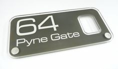 House Number Sign 64... Modern 'Glass Acrylic' House Sign