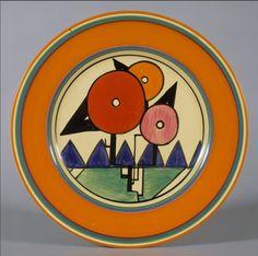 Plate by Clarice Cliff  (British, 1899-1972).  Manufacturer: A. J. Wilkinson, Ltd. Date: 1930. Medium: Earthenware. Dimensions: Diam.10 inches (25.4 cm.).
