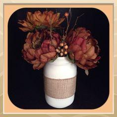 Mason jar decor- sweet and simple