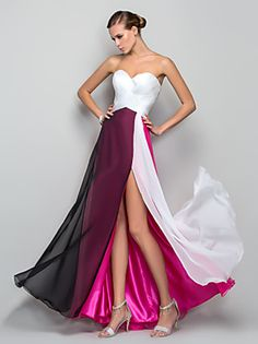 TS Couture® Formal Evening / Military Ball Dress - Furcal Plus Size / Petite A-line / Princess Sweetheart Floor-length Chiffon with Split Front Evening Dresses Online, Cheap Evening Dresses, Dress Online, Ball Dresses, Prom Dresses, Formal Dresses, Dresses 2013, Wedding Dresses, Chiffon Dress