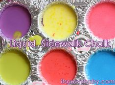 our favorite outdoor activity - homemade sidewalk chalk paint!  so easy!
