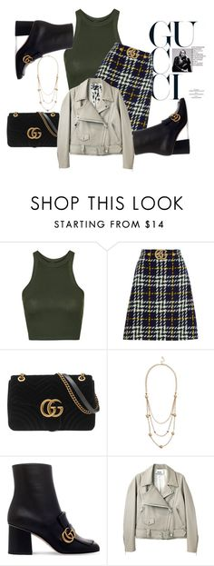 """Gucci Gucci"" by triceyfashion ❤ liked on Polyvore featuring Topshop, Gucci, GUESS and Acne Studios"