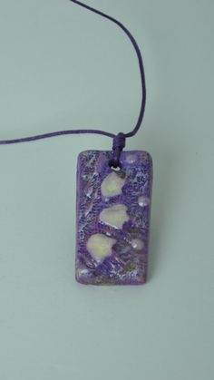 Handmade modelling clay purple necklace for by BenekliZencefil