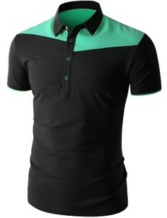 Doublju Men's Short Sleeve Polo Shirt (CMTTS018) #doublju