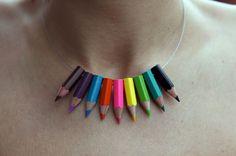 Lapicitos (Little Pencils) Necklace: by Corazon de Galleta from Barcelona, Spain