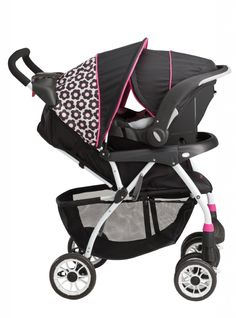 A great way to save money is with a stroller car seat combo. The Evenflo Journey 300 Stroller has a detachable car seat that can easily be removed from the stroller and locked into place in your car without disturbing a sleeping baby.  http://babylifeparadise.com/accessories/cheap-baby-stuff/evenflo-journey-300-stroller-with-embrace-35-car-seat