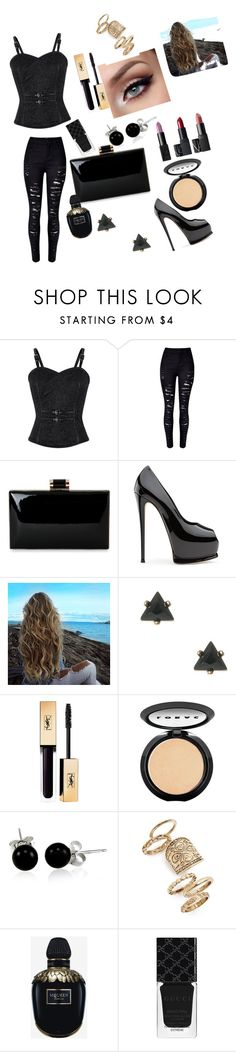 """""""Untitled #76"""" by brunagzilli on Polyvore featuring LORAC, Bling Jewelry, Topshop, Alexander McQueen and Gucci"""