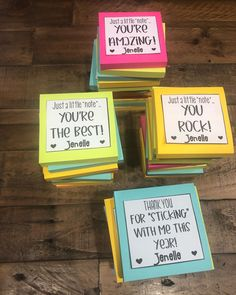 Sticky Note Gift for Co-Workers How To Make Oil, Back To School Gifts, You're Awesome, Sticky Notes, Thank You Gifts, Creative Gifts, Gift Ideas, Day, Instagram