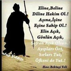Hacı Bektaş Veli Letting Go, Let It Be, Education, Words, Memes, Quotes, Muslim, Winter, Wedding
