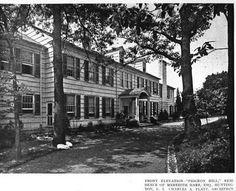 'Pidgeon Hill', the Meredith Hare estate designed by Charles Platt c. 1916.