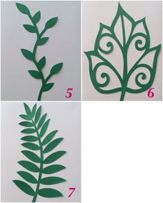 These leafs are perfect to add to your handmade paper flower backdrops. Paper Flower Decor, Paper Flower Backdrop, Giant Paper Flowers, Flower Decorations, Fabric Flowers, Flower Art, Leaf Template, Flower Template, Leaf Cutout