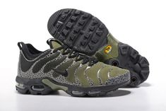 Cheap Men's Nike Air Max Plus Tn Ultra Running Shoes Sneakers Army Green Black 881560 434 For Sale, The Nike Tuned Air system consists of two opposing polymer hemispheres that rebound against each other to absorb shock. Nike Air Max Plus, Air Max Plus Tn, Nike Air Max Tn, Ultra Running Shoes, Ultra Shoes, Running Shoes For Men, Mens Running, Sneaker Outlet, Tn Nike