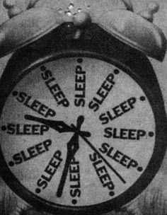 sleep o'clock.