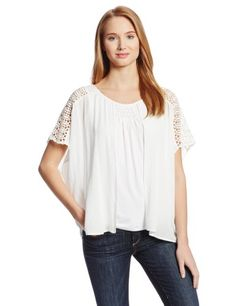 Democracy Women's Mixed Media Knit Tank with Woven Overpiece $51.00