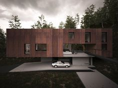 Bridge, Car Port, Cantilevered Home in Pontypridd, Wales