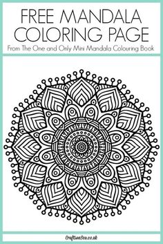 This gorgeous free mandala coloring page is from The One and Only Mini Mandala Colouring Book and it's yours to download and enjoy today.