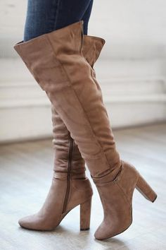 Waltz Right Over-The-Knee Boots - Taupe