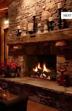 10 Affluent Cool Tricks: Vintage Fireplace Cover old fireplace farmhouse.Fireplace Living Room Built Ins brick fireplace living room.Fireplace And Tv Side By Side. Decor, Home Fireplace, Fireplace Mantle, Rock Fireplaces, Rustic Fireplaces, Rustic House, House Design, Fireplace Design, Cozy Fireplace