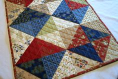 Woodland Table Runner Quilted Woodland Summer by atthebrightspot
