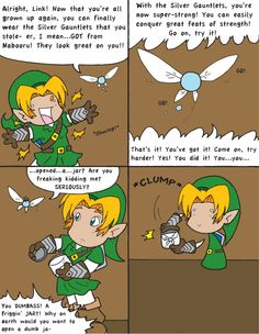legend of zelda funny comic