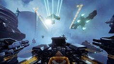 EVE: Valkyrie - This game uses very dull colours and makes space seem hostile and unwelcoming. A lot of objects are slightly obscured by clouds which makes it feel more unknown. I think with my game design this would be a good atmosphere due to the fact that the player will always be in danger.