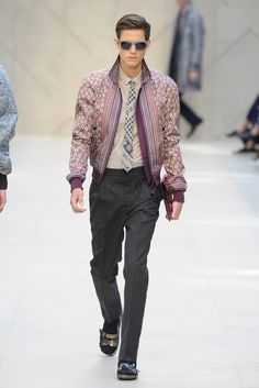 """Burberry Prorsum Men's RTW Spring 2013. Can you say """"Ice, Ice, Baby/ Vanilla Ice, Ice Baby."""" I'm still really digging this whole ensemble."""
