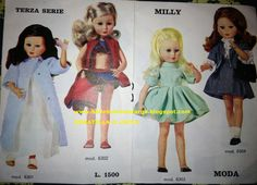 Catalogo Milly Z&Z 05 Vintage Barbie, Vintage Dolls, Doll Toys, Harajuku, Disney Princess, Disney Characters, Clothes, Chef, Doll Stuff