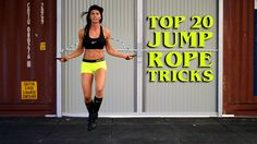 Jump Rope Tricks and Skills (Beginner) to (Advanced) Cycling For Beginners, Workout For Beginners, Beginner Jump Rope Workout, Jump Rope Training, Rope Exercises, Fitness Exercises, Skipping Rope, Easy Workouts, Get In Shape