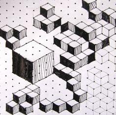 cubes perspective : on peut tenter en CM2 ?