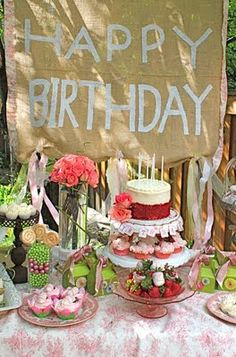 Burlap Sign, great for birthdays or any occasion needing a sign
