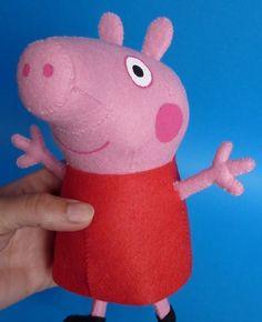 Utilize nosso molde Peppa Pig de feltro em 3D e faça uma Peppa Pig para seus pequenos (Foto: kosucas.blogspot.com.es)