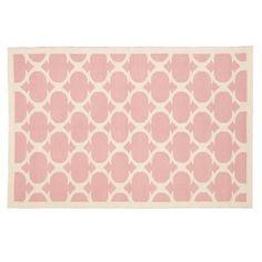 cute pink rug for nursery $199