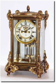 Antique Ansonia Marquise Crystal Regulator Clock  c.1901