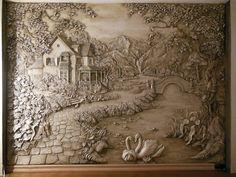 Sculpture Painting, Mural Painting, Time Stone, Mural Wall Art, Murals, House Design Photos, Stone Art, Art Techniques, Ceramic Art