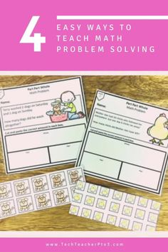 Introducing maths problem solving to early years students can seem like a bit of an undertaking but it's actually much easier than you think. Use these 4 easy steps to teach students to complete their work with accuracy and confidence. #techteacherpto3 #math #teaching #blog #problemsolving #numeracy Student Teaching, Teaching Kids, Teaching Resources, Math Manipulatives, Numeracy, Math Vocabulary, Maths, Problem Solving Activities, Teachers Pet