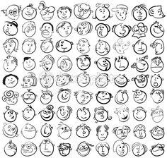 fun faces to draw