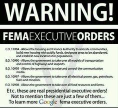 Fema executive orders