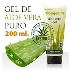 Aloe Vera puro Eco Hidratación natural, control de la grasa, para curar quemaduras... www.elherbolario.com