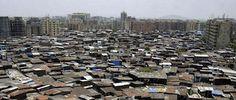 de grote krottenwijk van mumbai, midden in het centrum