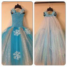 Elsa inspired tutu dress with glitter cape by LittledreamsbyMayra, $63.00