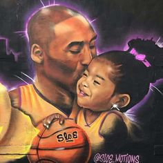 24 Murals Paying Tribute To Kobe Bryant Around L. Kobe Bryant Family, Kobe Bryant 24, Lakers Kobe Bryant, Lakers Team, Dodgers, Basketball Art, Love And Basketball, Basketball Photos, Kobe Bryant Daughters