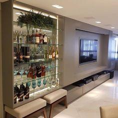 Tv Wall Design, House Design, Modern Home Bar, Tv Panel, Living Room Tv Unit Designs, Tv Wall Decor, Home Bar Designs, Café Bar, Home Tv