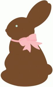 Chippy the chocolate bunny designed by Rachel Place for Silhouette America