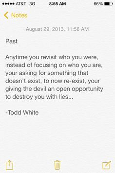 True and any time other people put you in your past it works the same way. #letitgo #growup