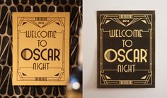 Printable Oscar party signs and posters